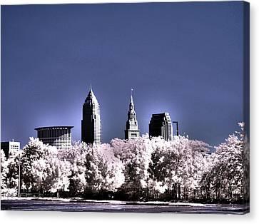 Skyline Cleveland, Ohio Canvas Print by Bob LaForce