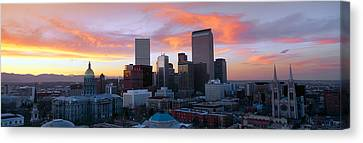 Skyline, Denver, Colorado Canvas Print by Panoramic Images
