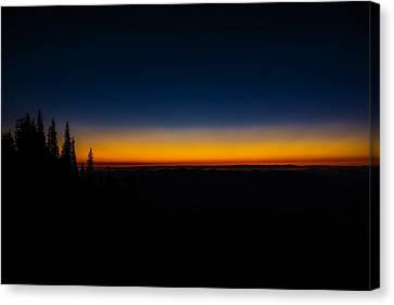 Skyline Divide Sunset Canvas Print by Pelo Blanco Photo