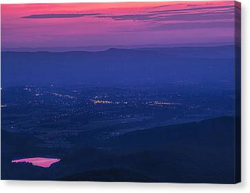 Skyline Drive Sunset Canvas Print