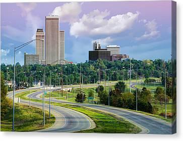 Skyline Drive To Tulsa Oklahoma  Canvas Print by Gregory Ballos
