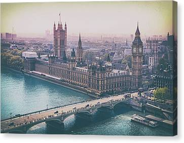 Skyline From The London Eye Canvas Print
