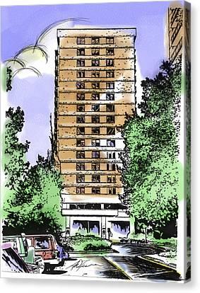 Skyline House Condo Canvas Print