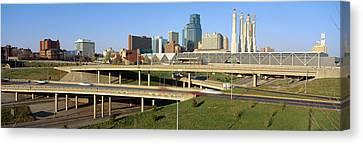 Skyline, Kansas City, Missouri Canvas Print by Panoramic Images