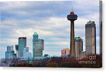 Canvas Print featuring the photograph Skyline Niagara by Traci Cottingham
