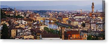 Skyline Of Historic Florence Canvas Print by Jeremy Woodhouse
