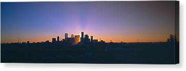 Skyline, Sunrise, Denver, Co Canvas Print by Panoramic Images