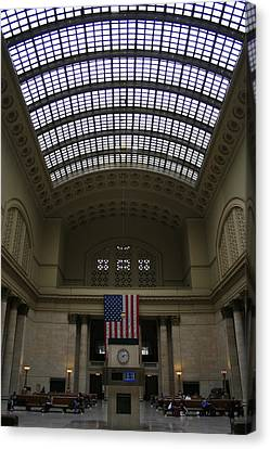 Skylit Chicago Union Station  Canvas Print by Christopher Kirby