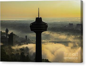 Skylon Tower Morning In Niagara Falls, Ontario, Canada Canvas Print
