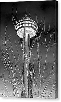 Canvas Print featuring the photograph Skylon Tower by Valentino Visentini