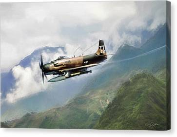 Skyraider Canvas Print by Peter Chilelli