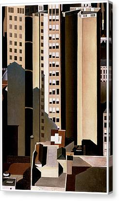 Skyscraper Canvas Print by Charles Sheeler