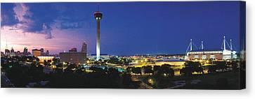 Skyscraper In A City, San Antonio Canvas Print by Panoramic Images