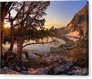 Skytop Lake Sunrise Canvas Print by Leland D Howard
