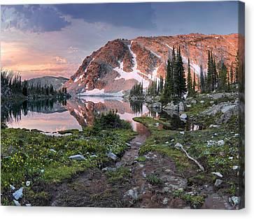 Distinctive Canvas Print - Skytop Lake Sunrise by Leland D Howard