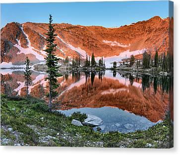 Skytop Sunrise Canvas Print by Leland D Howard