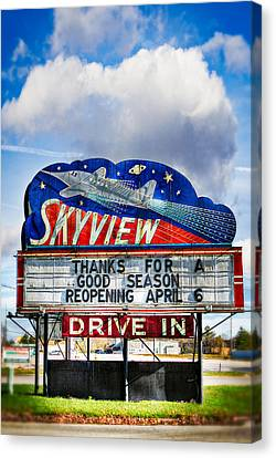Skyview Drive-in Theater Canvas Print by Robert  FERD Frank