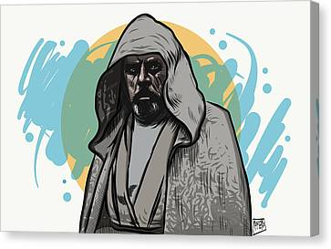 Canvas Print featuring the digital art Skywalker Returns by Antonio Romero