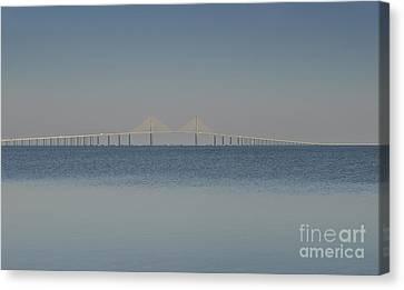 Skyway Bridge In Blue Canvas Print