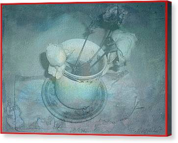 Skyworks 5 Rose Canvas Print by Friedl Aigner