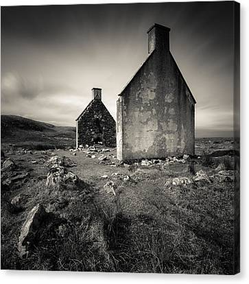 Slaggan Ruins Canvas Print by Dave Bowman