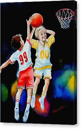 Slam Dunk Canvas Print by Hanne Lore Koehler