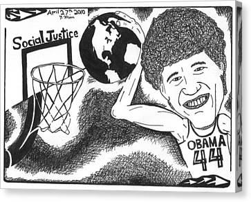 Slam Dunk Social Justice Canvas Print by Yonatan Frimer Maze Artist