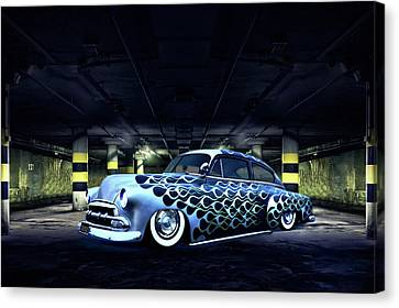 Slammed Canvas Print by Steven Agius