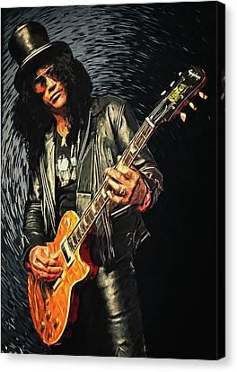Santana Canvas Print - Slash by Taylan Apukovska