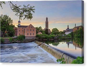 Slater Mill Sunset Canvas Print