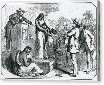 Slave Auction Canvas Print by Photo Researchers