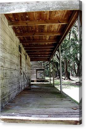 Slave Cabin Row - Laurel Valley Canvas Print by Paul Michaels