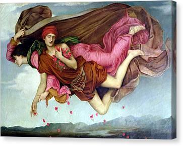Sleep And Night Canvas Print by Evelyn de Morgan