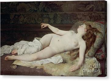 Sleep Canvas Print by Louis Joseph Raphael Collin