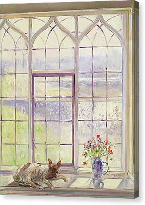 Sleeper With Anemones Canvas Print by Timothy Easton