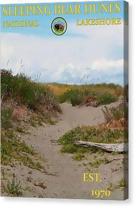 Sleeping Bear Dunes National Lakeshore Poster Canvas Print