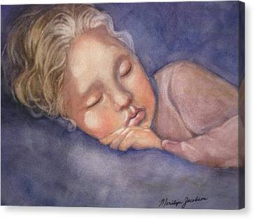 Sleeping Beauty Canvas Print by Marilyn Jacobson