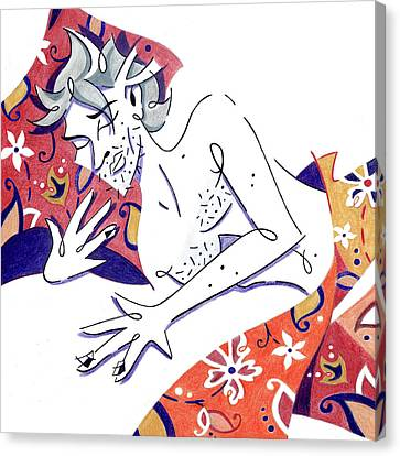 Sleeping Beauty - Prince Dreamer - Bello Durmiente Canvas Print by Arte Venezia
