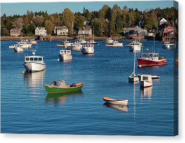 Sleeping Boats Canvas Print by Jon Glaser