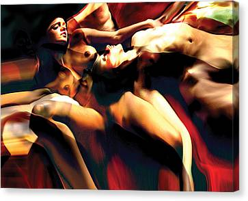 Sleeping Bodies Canvas Print by Naikos N