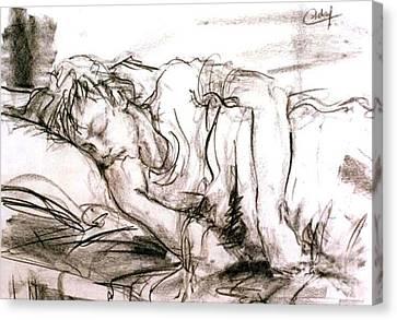Sleeping Boy Canvas Print by Debora Cardaci
