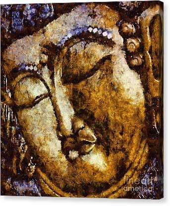 Sleeping Buddha By Sarah Kirk Canvas Print by Sarah Kirk