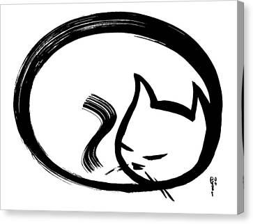 Sleeping Cat Canvas Print by Poul Costinsky