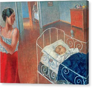 Sleeping Child Canvas Print by Kuzma Sergeevich Petrov Vodkin
