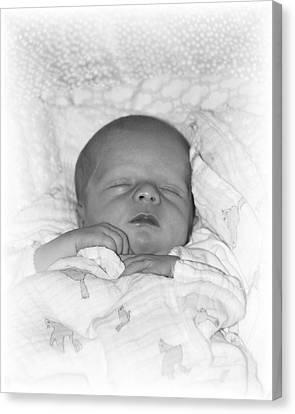 Sleeping Girl Canvas Print by Ellen O'Reilly