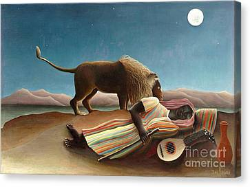 Sleeping Gypsy 1897 Canvas Print by Padre Art