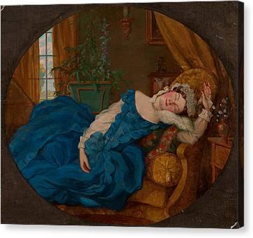 Sleeping Lady Canvas Print by Kontantin Somov