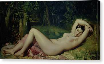 Sleeping Nymph Canvas Print by Theodore Chasseriau