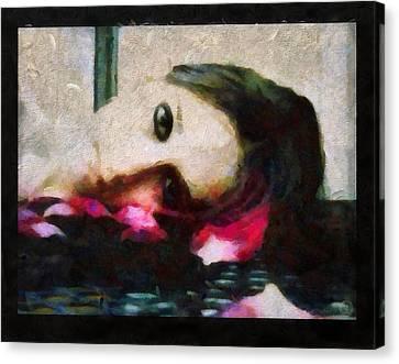 Sleeping On Petals Makes My Dream Flourish Canvas Print by Gun Legler