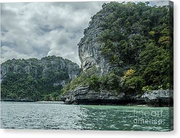 Angthong Canvas Print - Sleeping Rock by Michelle Meenawong